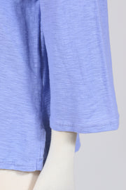 Cut Loose Tuck Front Boxy Top (Cotton Linen Knit) Multiple Colors