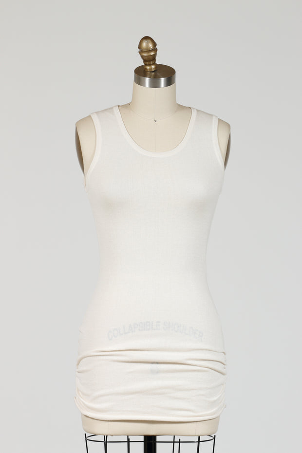 PLANET by Lauren G. Luxury Tank Top (Knit), {Nickel/Vanilla}