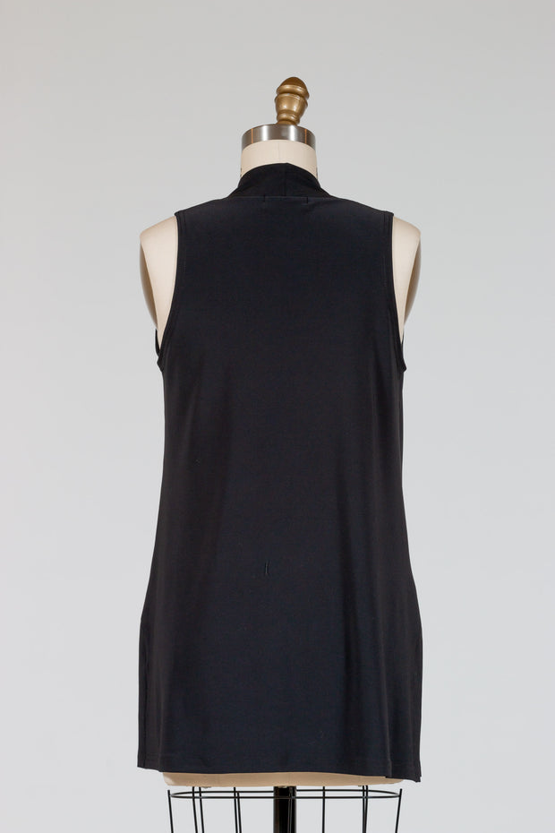 Sympli Sleeveless Deep V Tunic (Jersey)