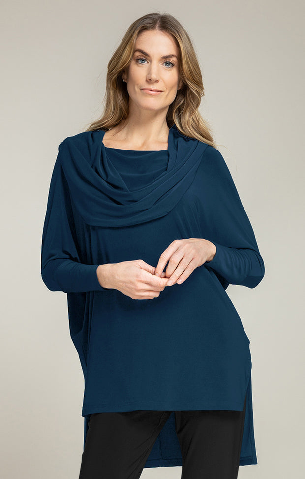 Sympli Wander Tunic (Jersey) {Denim/Black}