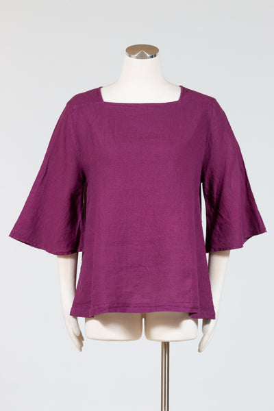 Cut Loose Flare Sleeve Top (Hanky Linen)