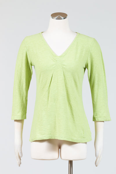 Cut Loose Tuck Front Tee (Three-Quarter Sleeve)
