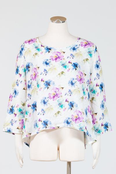 Cut Loose 3/4 Sleeve Split Back-Summer Breeze Top