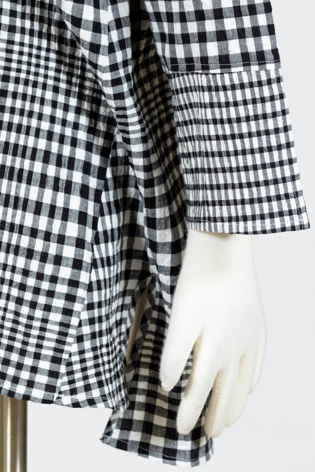 Habitat Nantucket Pieced Tunic (Cotton) {Black Checkered/Lapis Checkered}