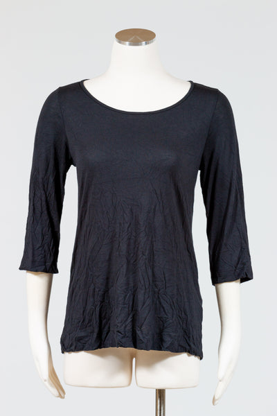 Chalet 3/4 Sleeve Basic Top (Crinkle)
