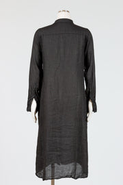 CP Shades Maxi Shirt Dress (Linen) {Black/White}