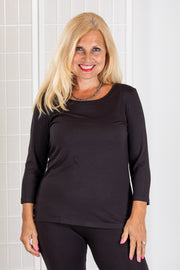 Chalet 3/4 Sleeve Basic Top (Modal)