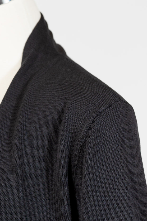 Habitat Fine Gauge Open Cardi (Sweater Knit) {Black/Graphite}