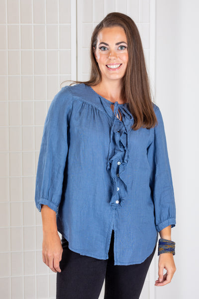Cut Loose Romantic Shirt (Hanky Linen)