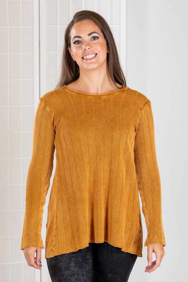 M. Rena Ribbed Tunic Sweater (Mineral Wash)
