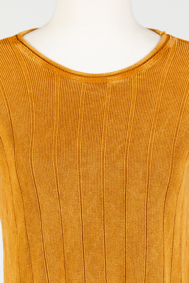 M. Rena Ribbed Tunic Sweater (Sweater Knit)