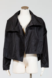 PLANET by Lauren G. Cropped Asymmetrical Jacket (Nylon)