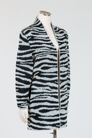 Baciano Amber Animal Print Cardigan (Stretch Knit)