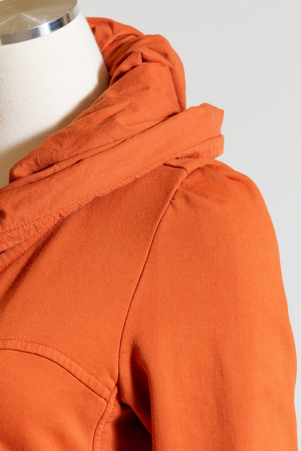 Prairie Underground Long Cloak Hoodie (French Terry) {Hot Sauce}