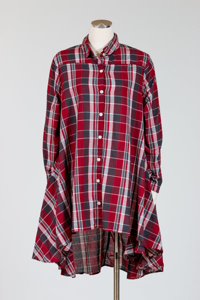 Tulip Lulu Top (Cotton Poplin) Grant Plaid