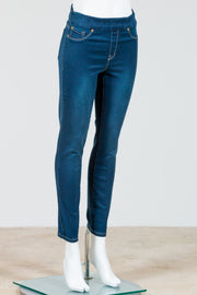 Tribal Audrey Pull on Ankle Jegging {Navy Blue}