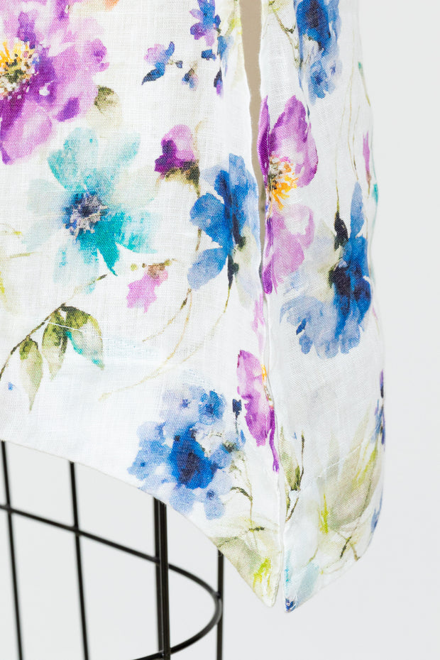 Cut Loose Flowy Tank (Floral Linen) {Laundered}