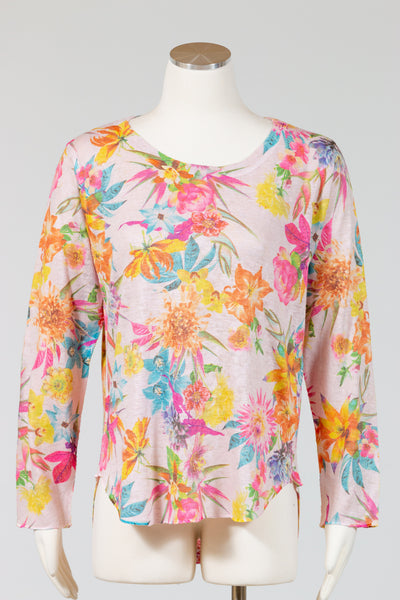 Nally & Millie Printed Long Sleeve Shirt {Pink Floral}