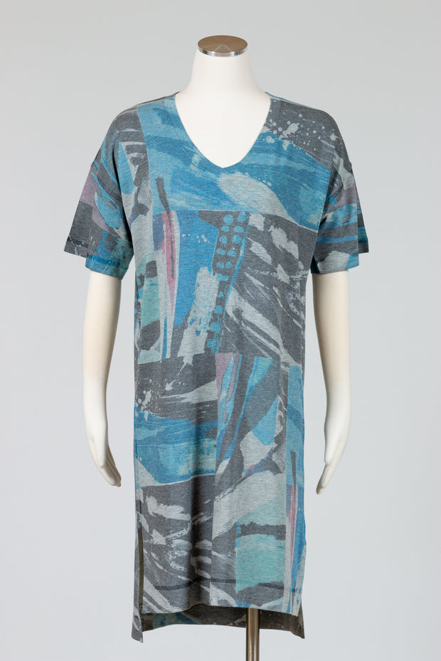 Nally & Millie Printed Dress {Grey Blue}