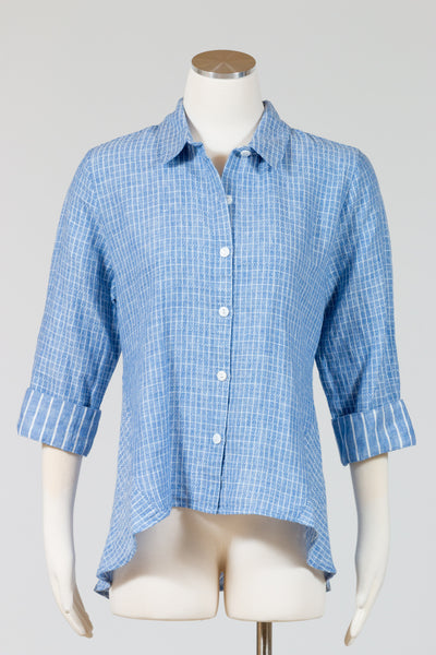 Habitat Striped Mix it Up High-Low Shirt {River}