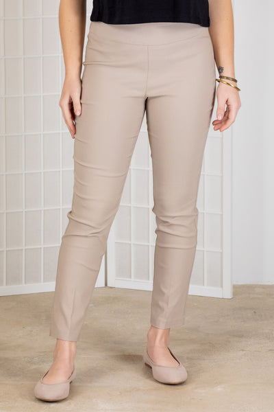 Tribal Flatten it Ankle Pant {Linen/Smoke}