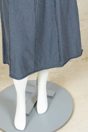 Cut Loose Seamed Skirt (Cotton Linen Knit)