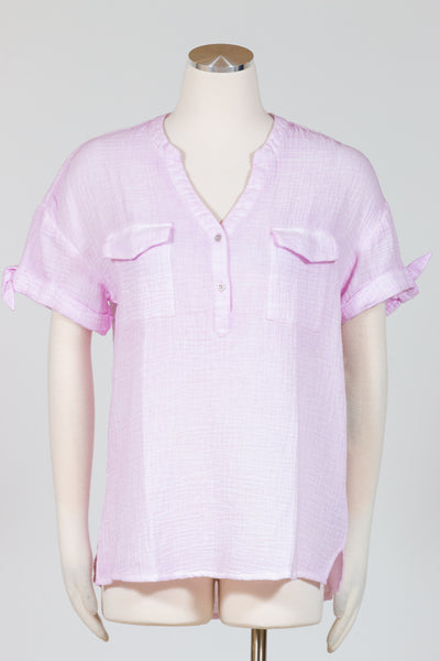 Tribal Short Sleeve Shirt {Pastel Orchid}