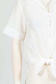 CP Shades Georgia Top (Cotton/Silk) {White}