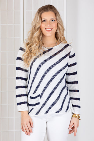 Habitat Barcelona Boxy Pocket Sweater {Navy}