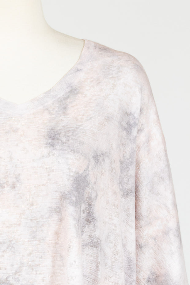 Nally & Millie Imogen Tie Dye Angled Top (Knit){Pink & Grey}