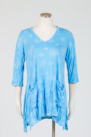 Chalet Liloude Tunic (Crinkle Print) {Cerulean/Oasis}