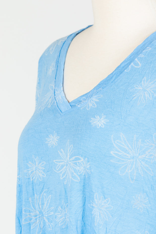 Chalet Liloude Tunic (Crinkle Print), Multiple Colors {Cerulean/Oasis}