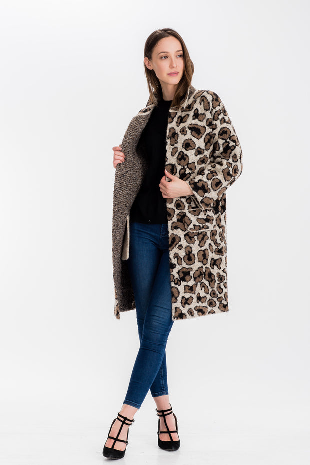 Baciano Abbie Long Coat (Stretch Knit)