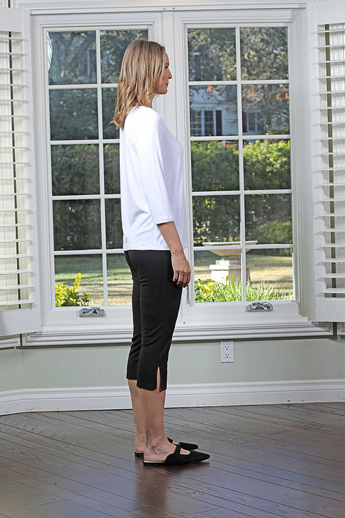 Chalet 3/4 Sleeve Basic Top (Modal) Multiple Colors
