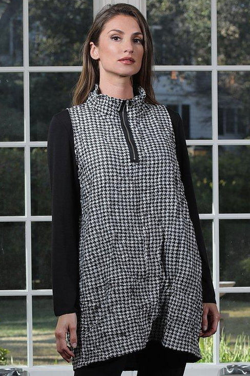 Chalet Cess Tunic (Crushed Houndstooth)