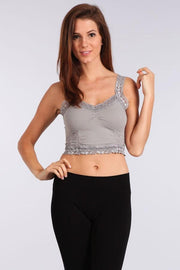 M. Rena Seamless Crop Cami Corset, Multiple Colors