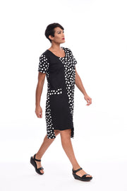Snapdragon & Twig Cameron Dress (Cotton), Black Doodle Dot