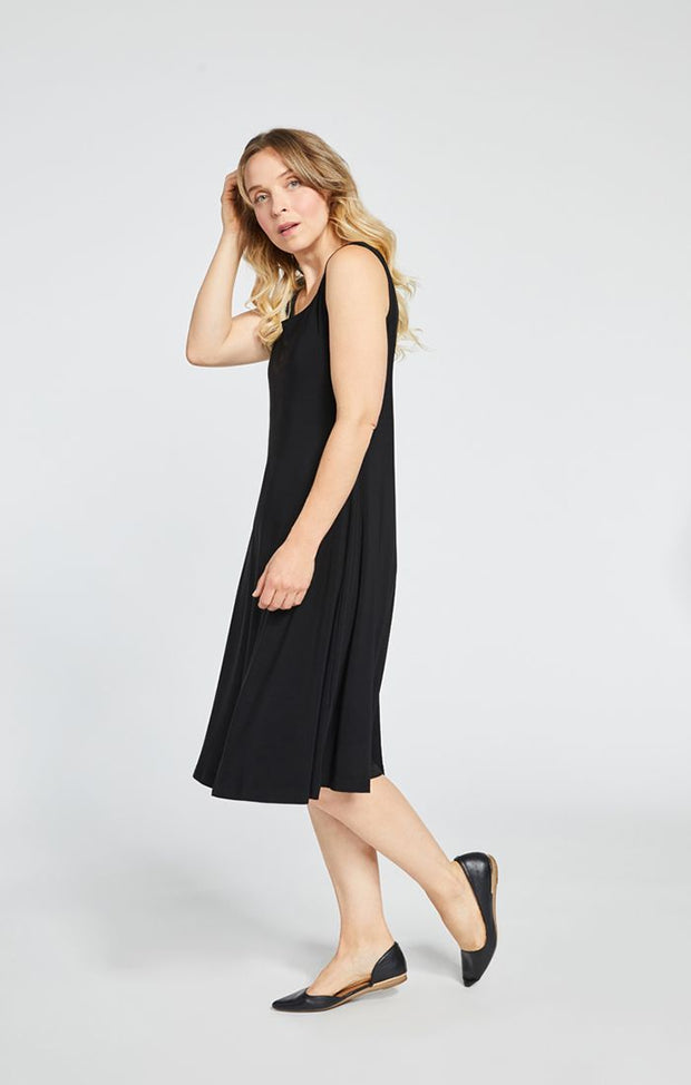 Sympli Tank Dress, Short (Jersey) Multiple Colors {Black/Navy}
