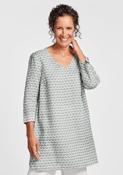 FLAX Long and Easy Pull Top (Linen) {Thyme Regal}