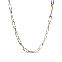 Mixed Metal Paperclip Chain