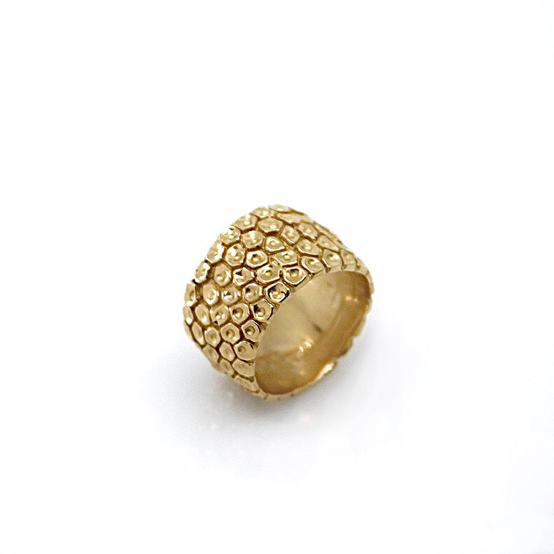 Gold Honeycomb Ring