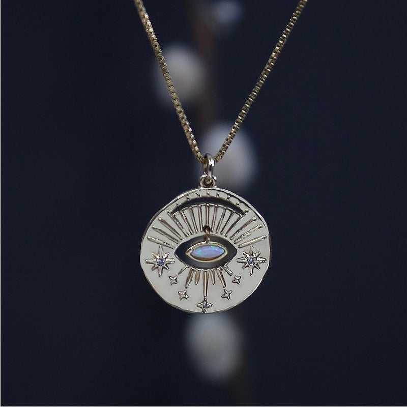 Celestial Opal Eye Necklace