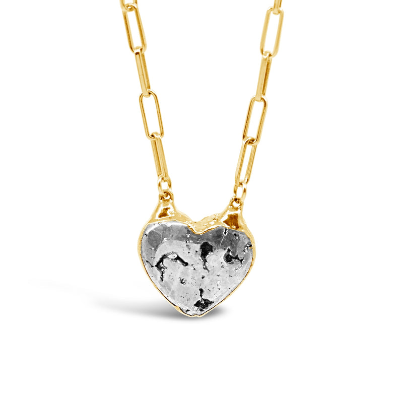 Pyrite Heart Necklace - kim baker