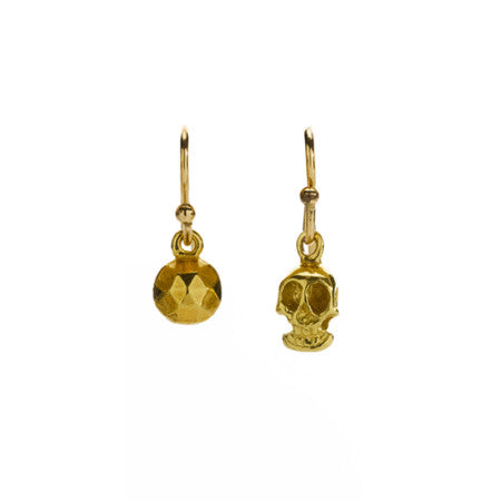 Skull Orb Earrings - kim baker