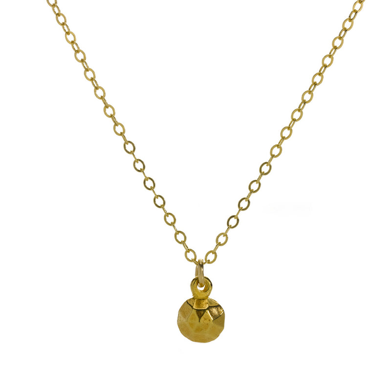 Gold orb charm necklace