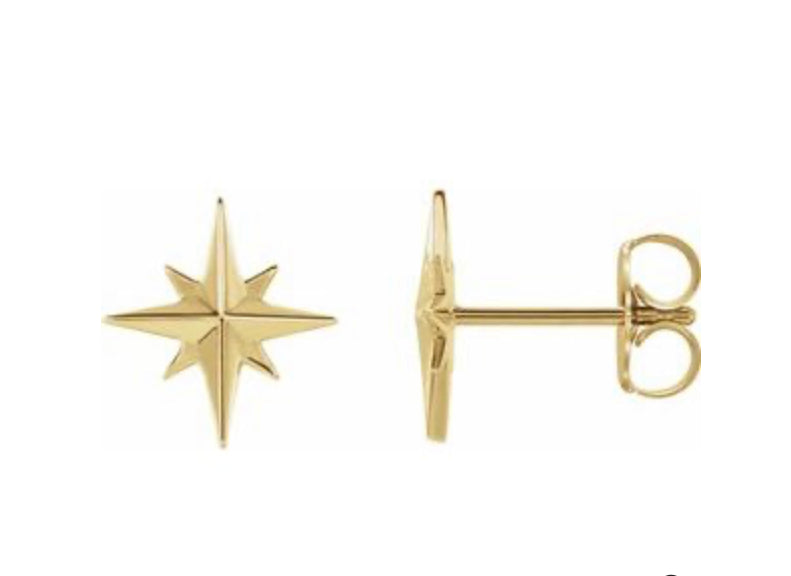 True North Yellow Gold Studs
