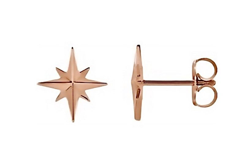 True North Rose Gold Studs