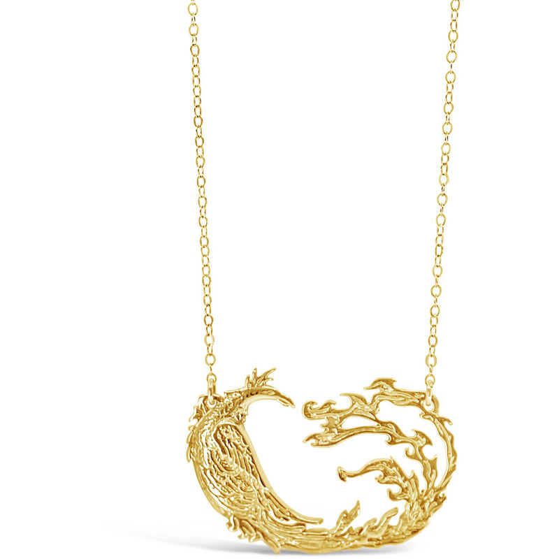 Gold Phoenix Necklace - kim baker