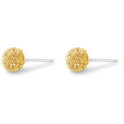 Gold Burr Stud Earrings - kim baker