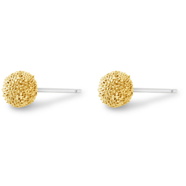 Gold Burr Stud Earrings